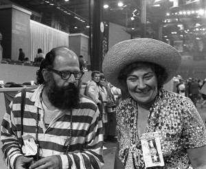 Bella Abzug and Allen Ginsberg at the Democratic Convention, Miami Beach 1972